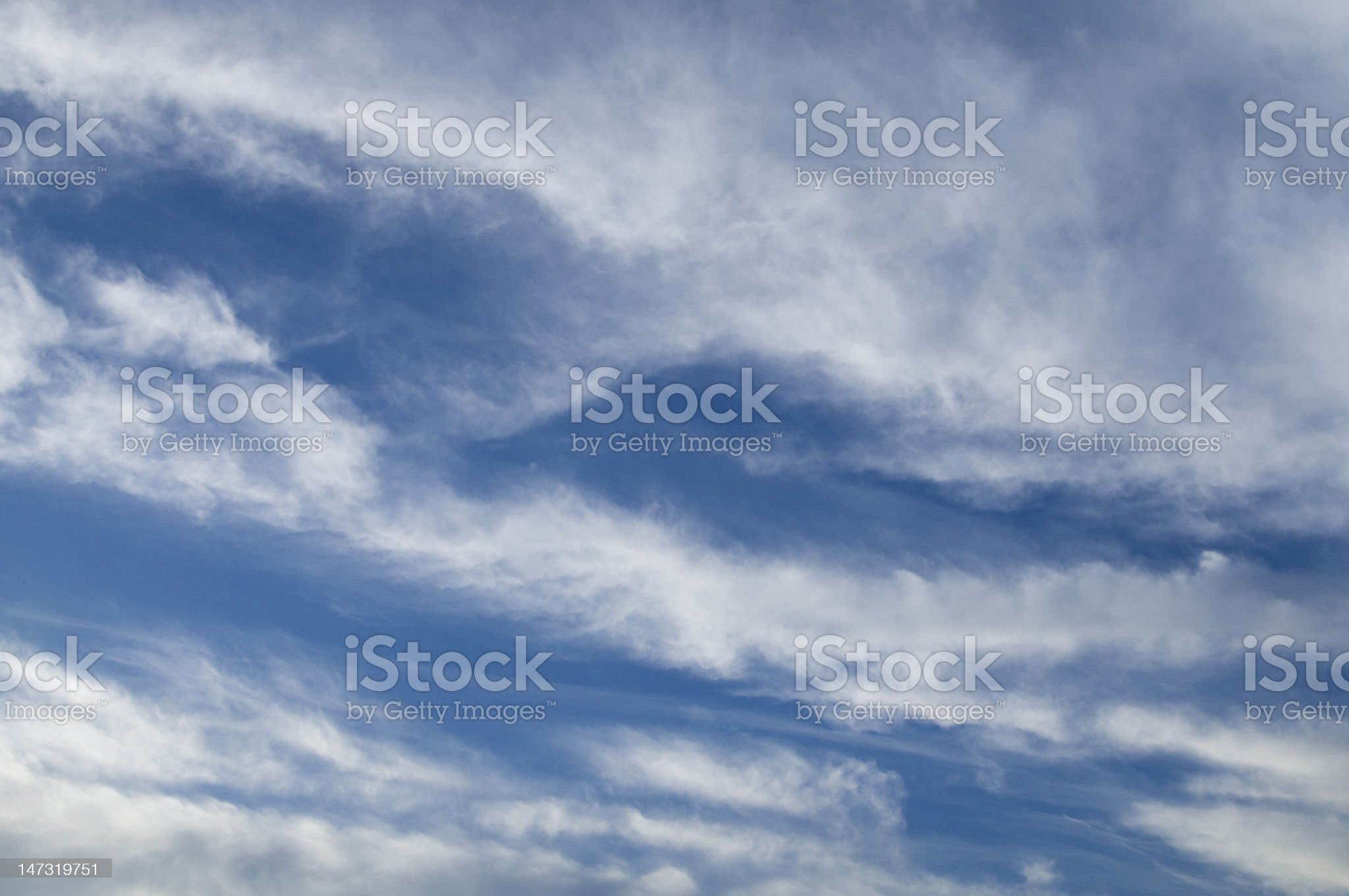 Patterns in the sky royalty-free stock photo