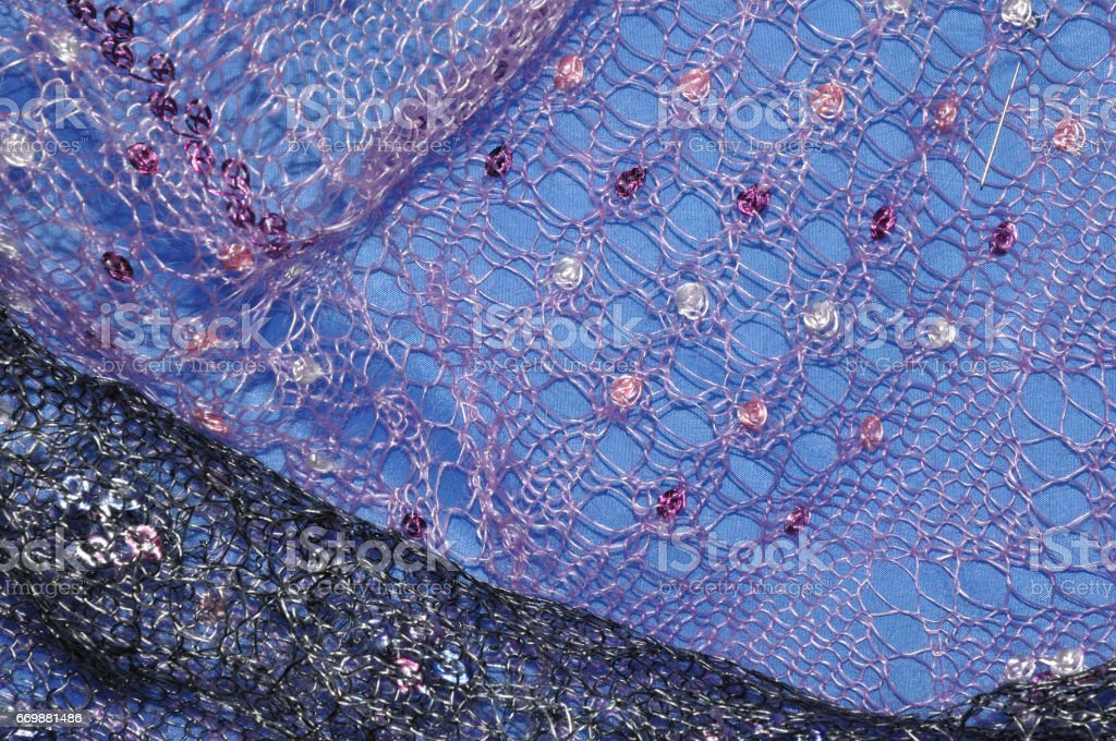Patterns of the Orenburg downy shawl stock photo
