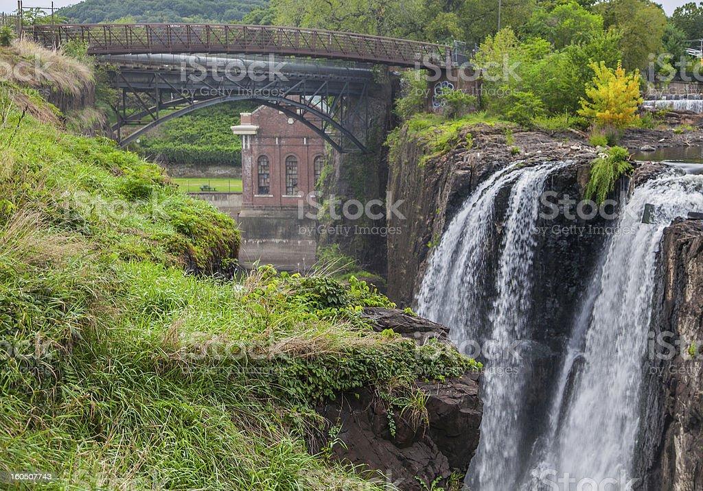 Patterson Great Falls NHP - Waterfall stock photo