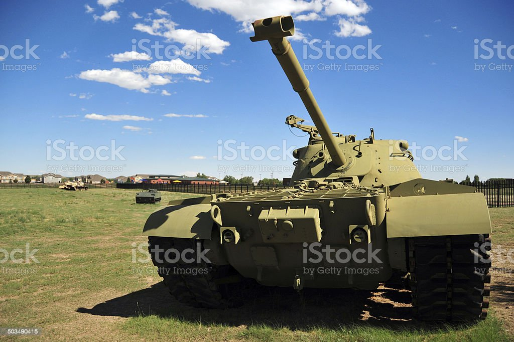 M48 Patton tank stock photo