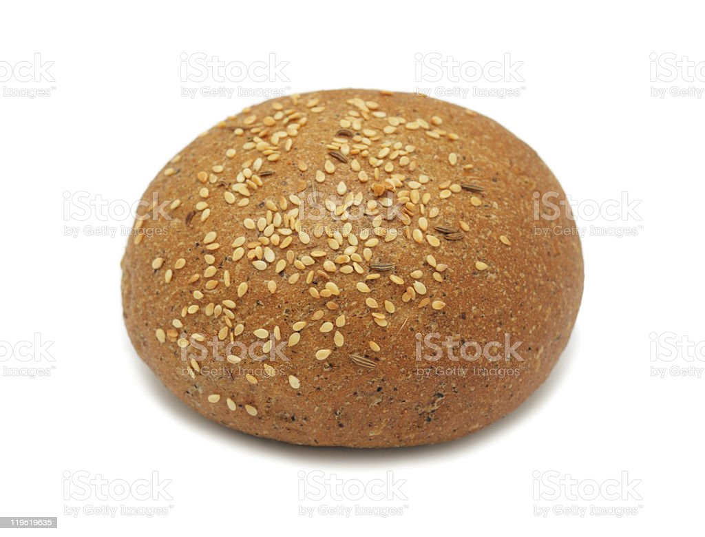 Patty-cake with sesame, isolated royalty-free stock photo