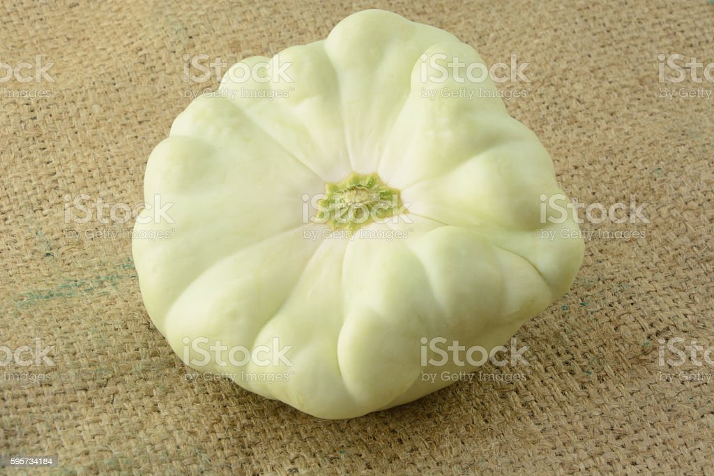 Pattypan squash stock photo