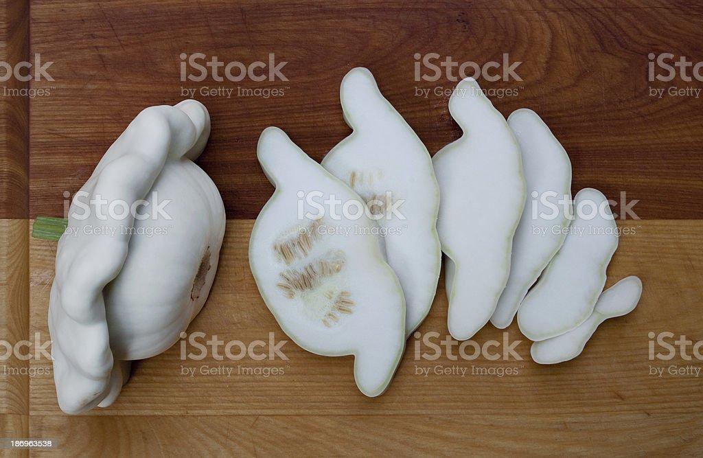 Pattypan Squash & Slices stock photo