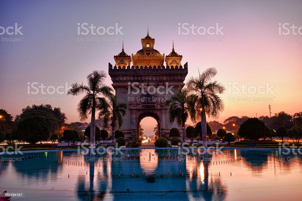 Patuxai in Vientiane, Laos stock photo