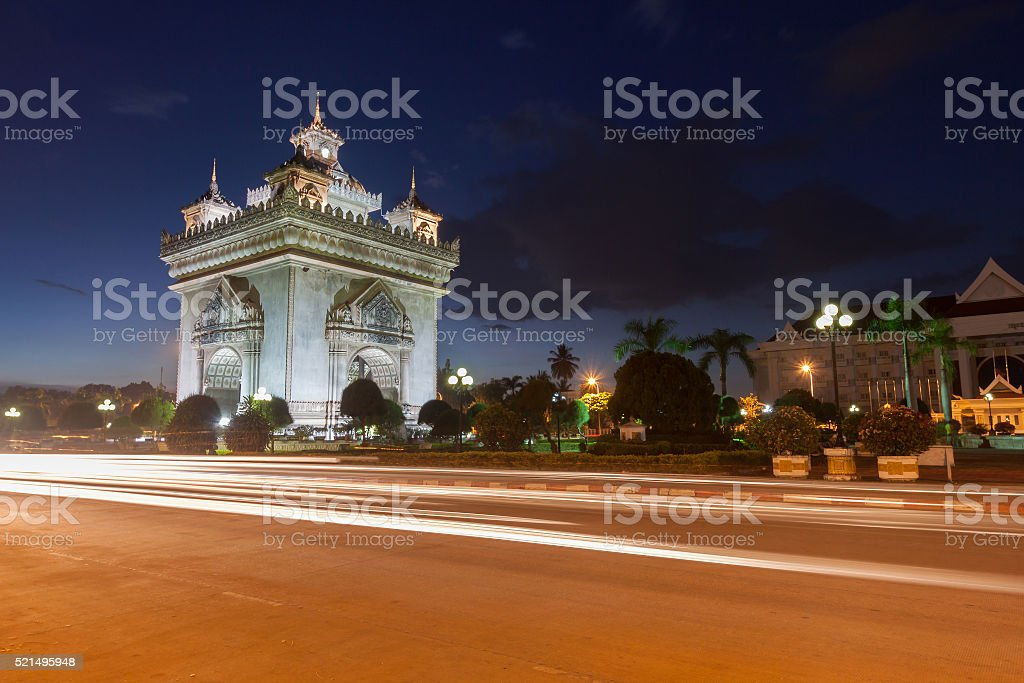 Patuxai stock photo