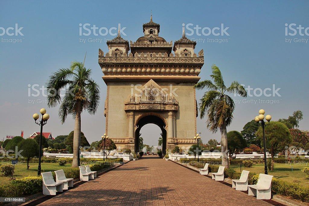 Patuxai, Vientiane, Laos stock photo
