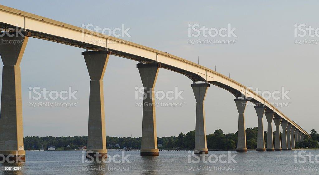 Patuxent River Bridge at Dusk stock photo