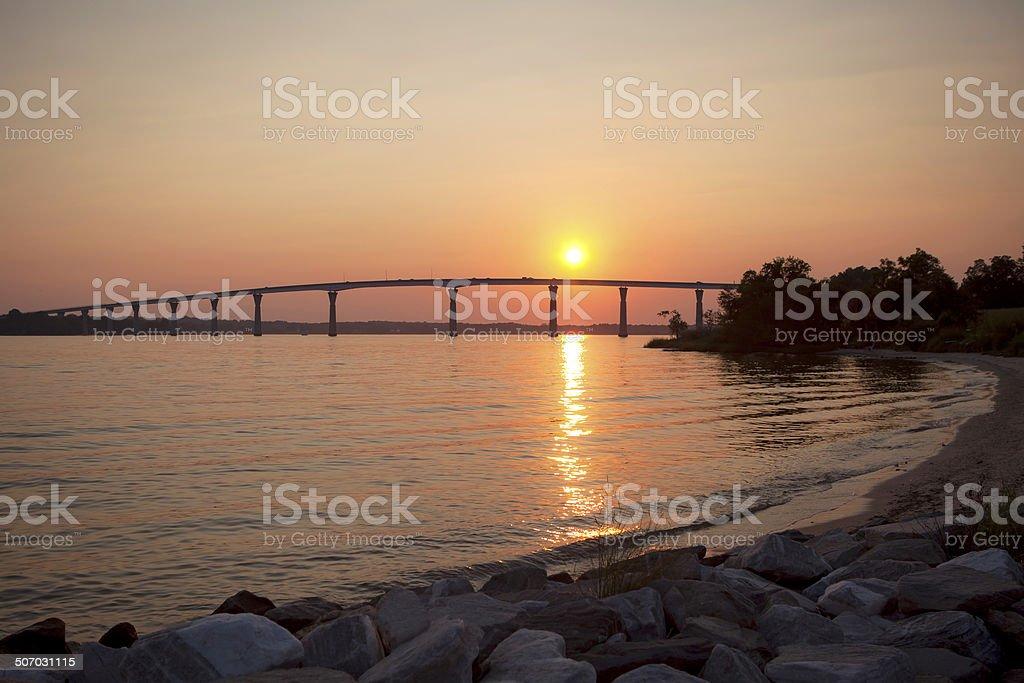 Patuxent river bridge stock photo