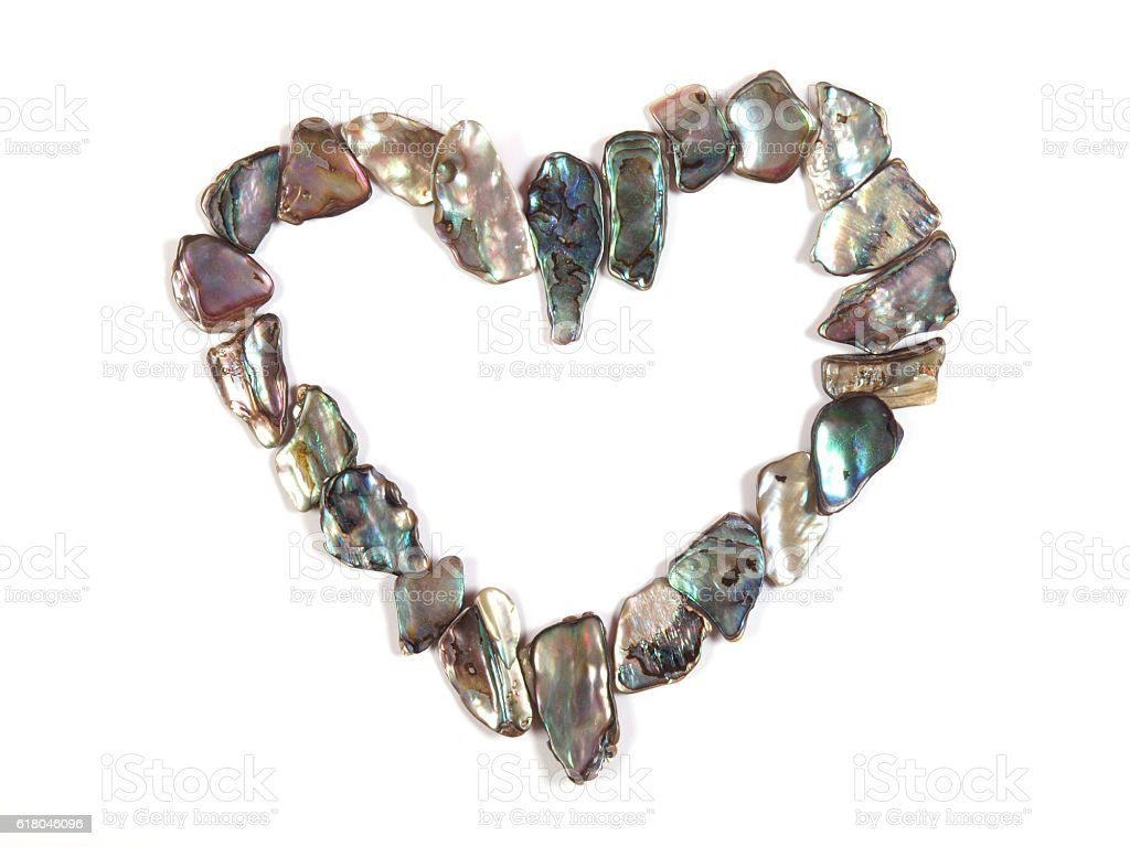 paua shell heart stock photo