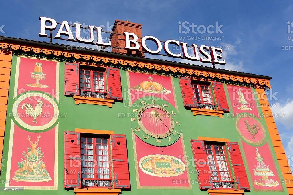 Paul Bocuse restaurant in Lyon, France stock photo