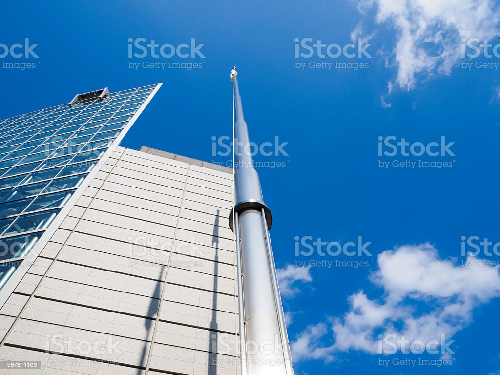 Paul & Building and blue sky stock photo