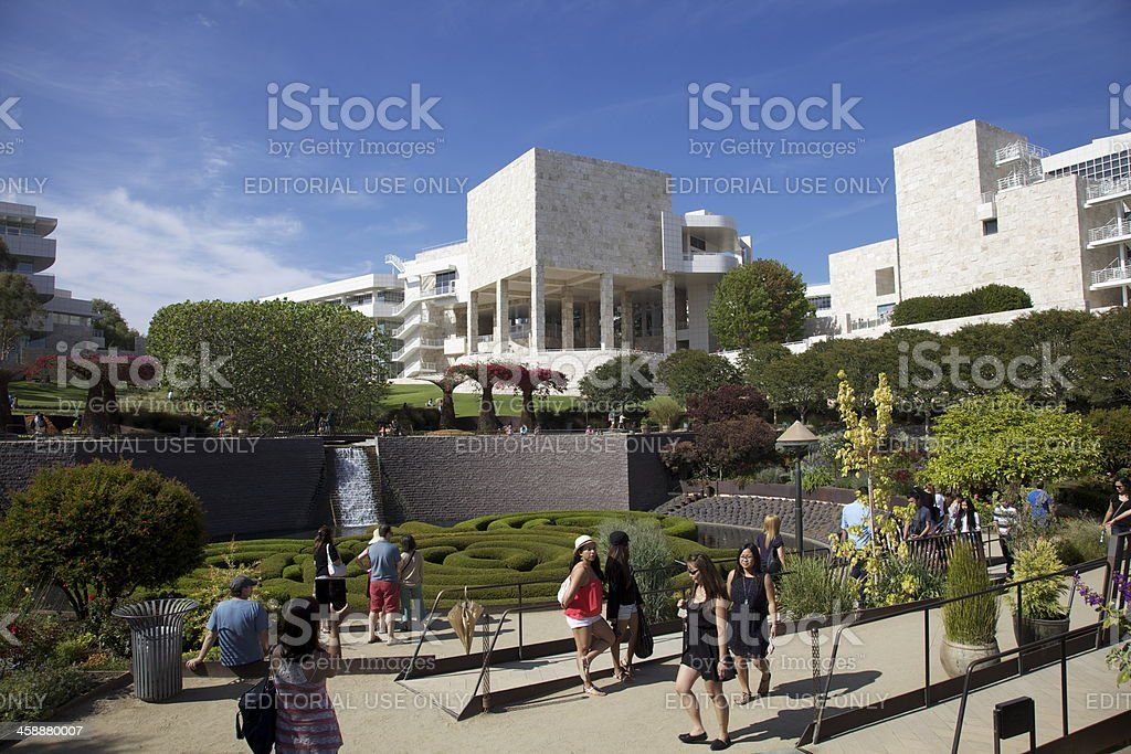 J. Paul Getty Museum Central Garden royalty-free stock photo