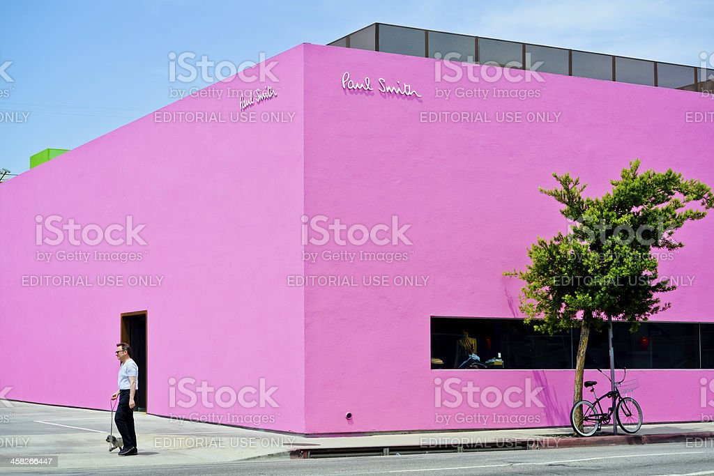 Paul Smith Store on Melrose Avenue, Los Angeles royalty-free stock photo