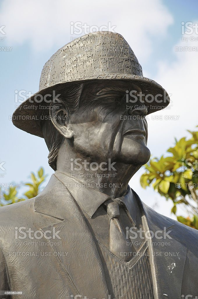 Paul W. Bryant Statue stock photo