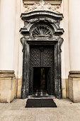 Pauline Church on the Rock in Krakow,  door.