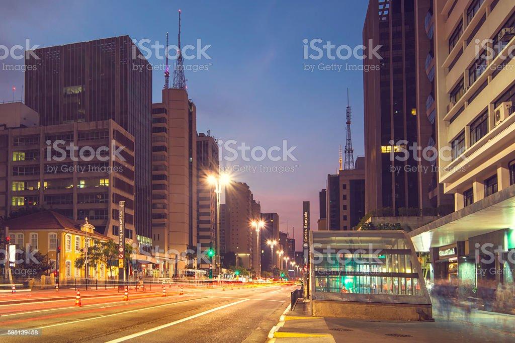 Paulista Avenue stock photo