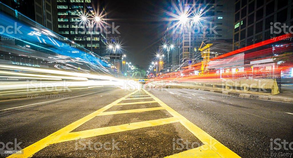 Paulista exit stock photo