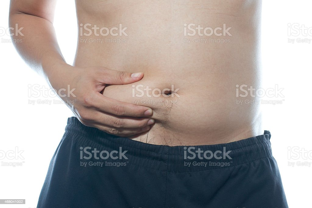 paunch of belly stock photo