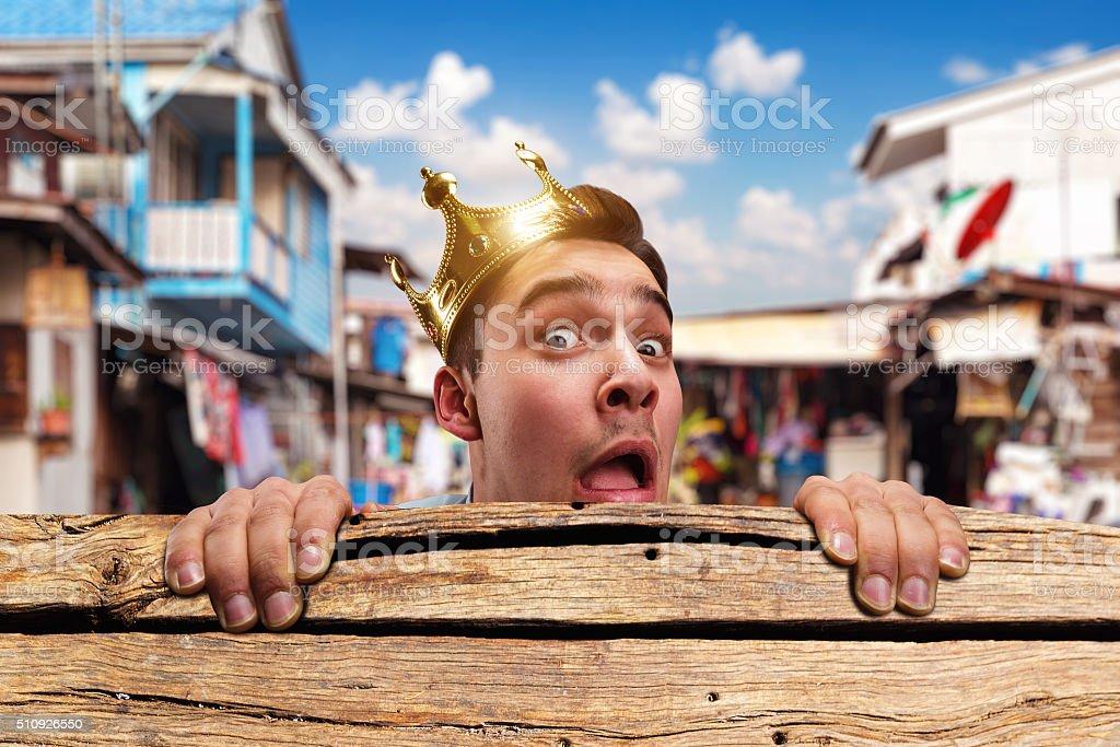 Pauper king stock photo