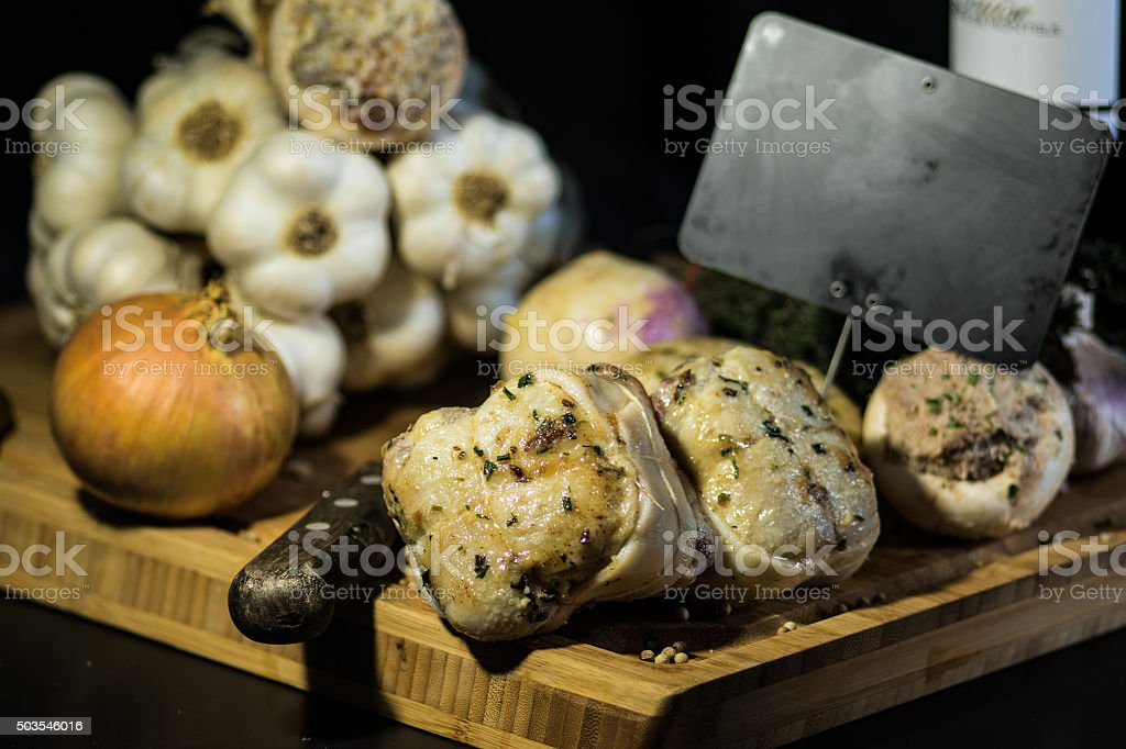 Paupiettes de poulet stock photo