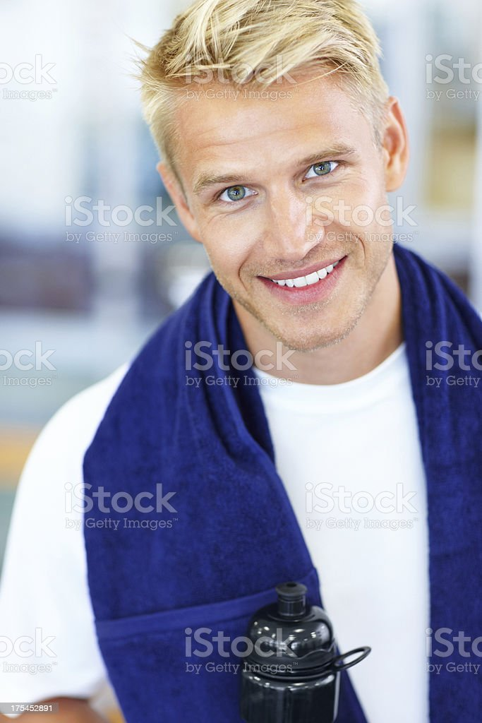 Pause after effort royalty-free stock photo