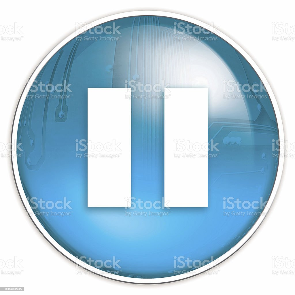 pause button royalty-free stock photo