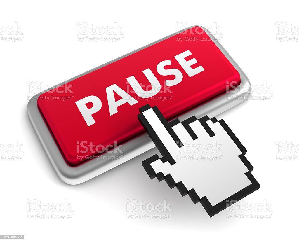 Pause Button stock photo