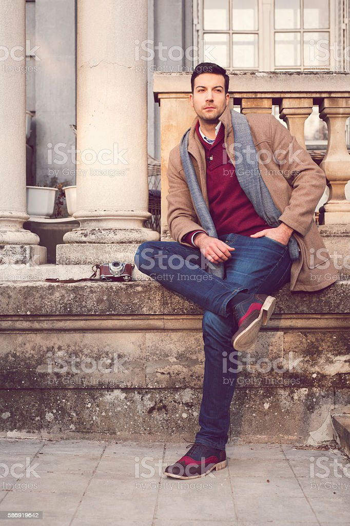 Pause for hard working artist stock photo