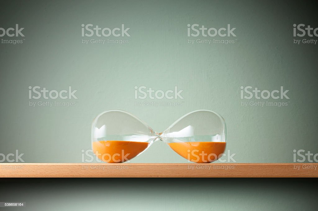 Pause. Hourglass. stock photo