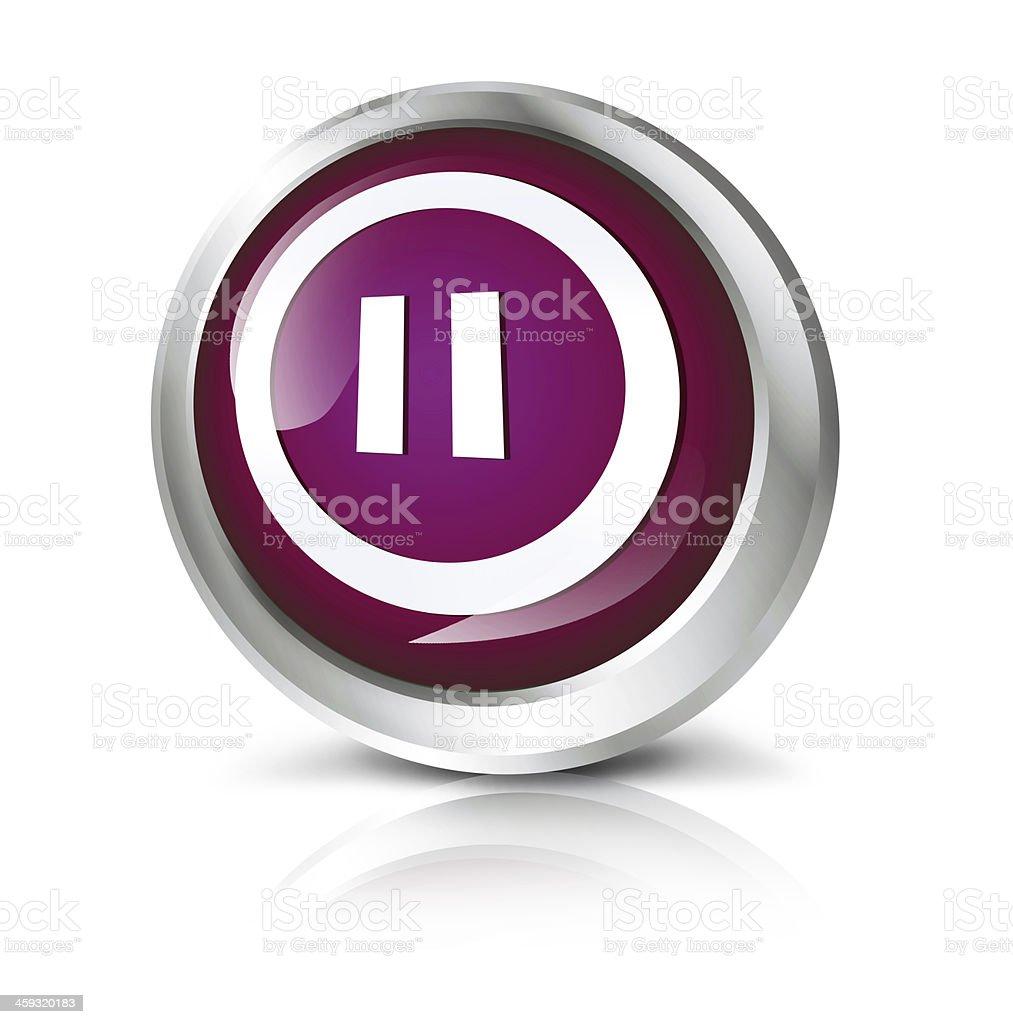 Pause icon royalty-free stock photo