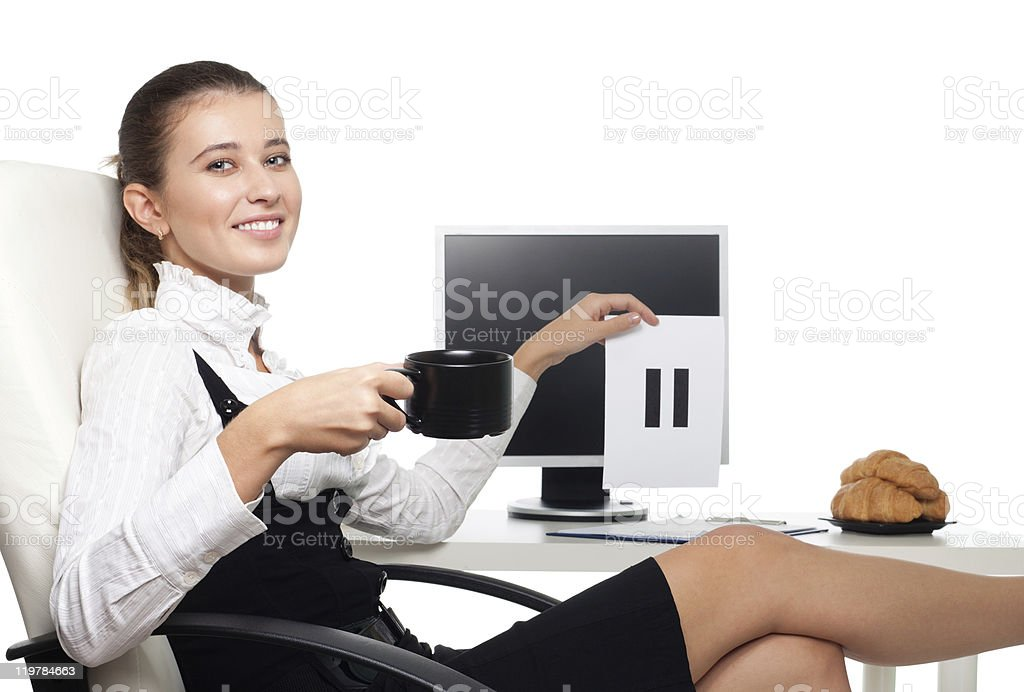 Pause in work stock photo