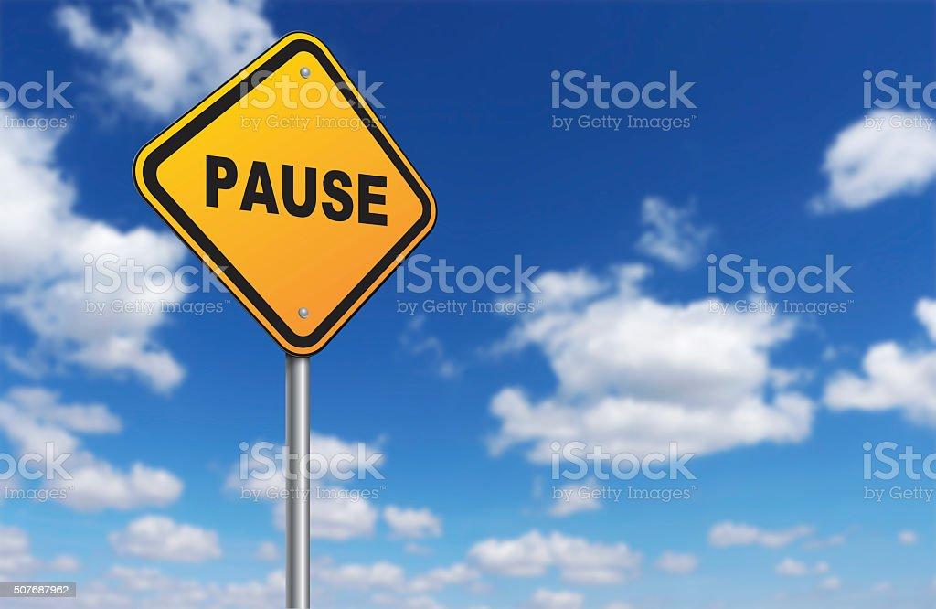 pause stock photo
