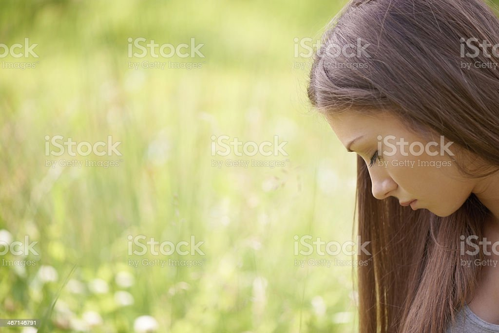 Pausing for thought in nature royalty-free stock photo