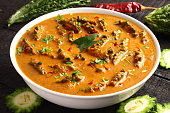 Pavakka theeyal-Traditional Kerala curry dish