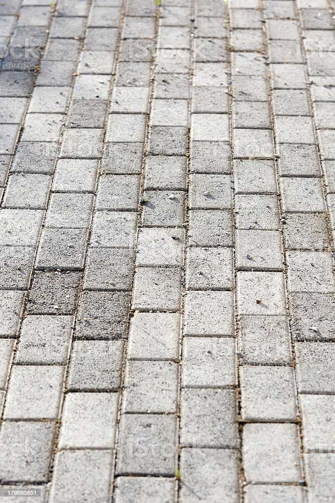 Paved driveway royalty-free stock photo