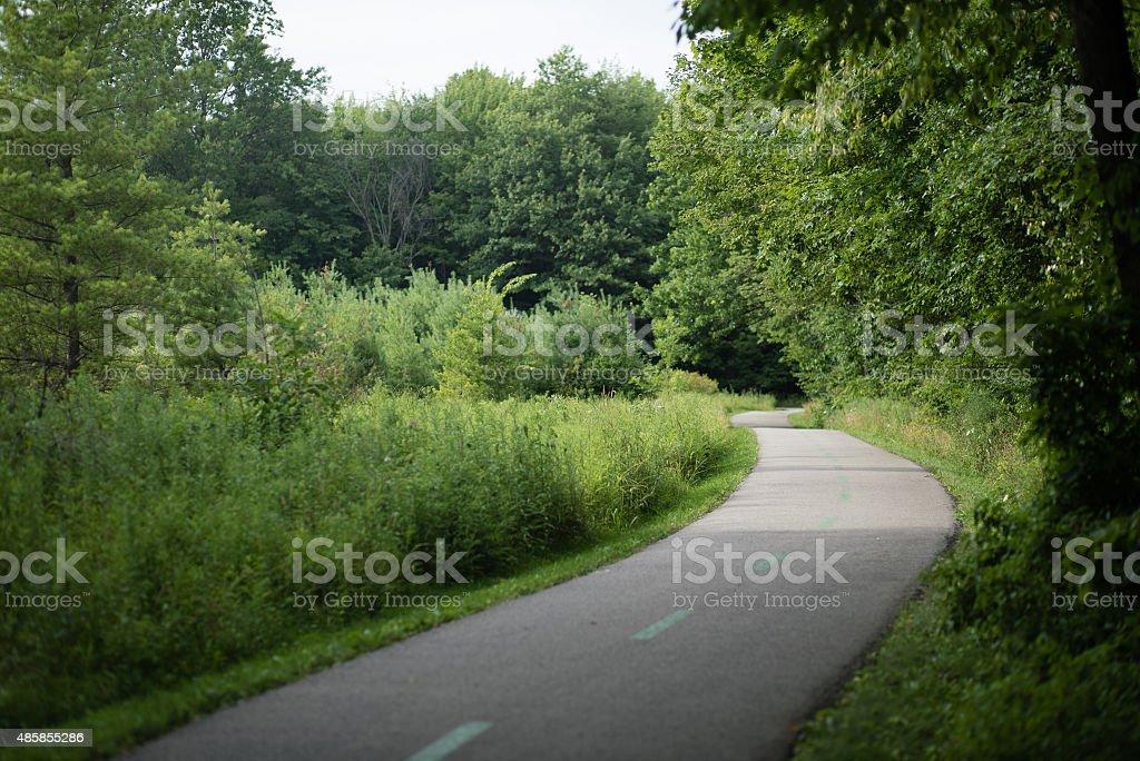 Paved Park Bike Path stock photo