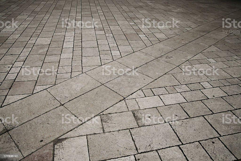 Paved plaza stock photo