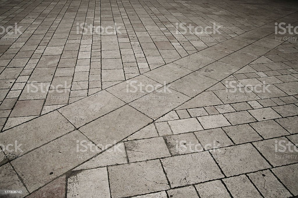 Paved plaza stock photo