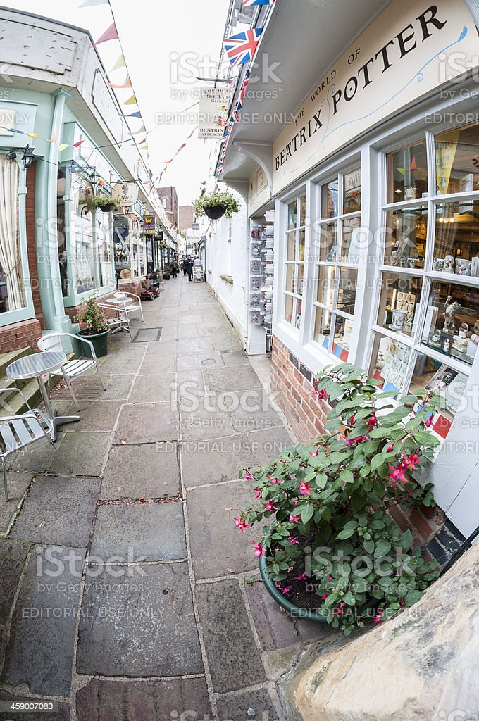 Paved Side Street royalty-free stock photo