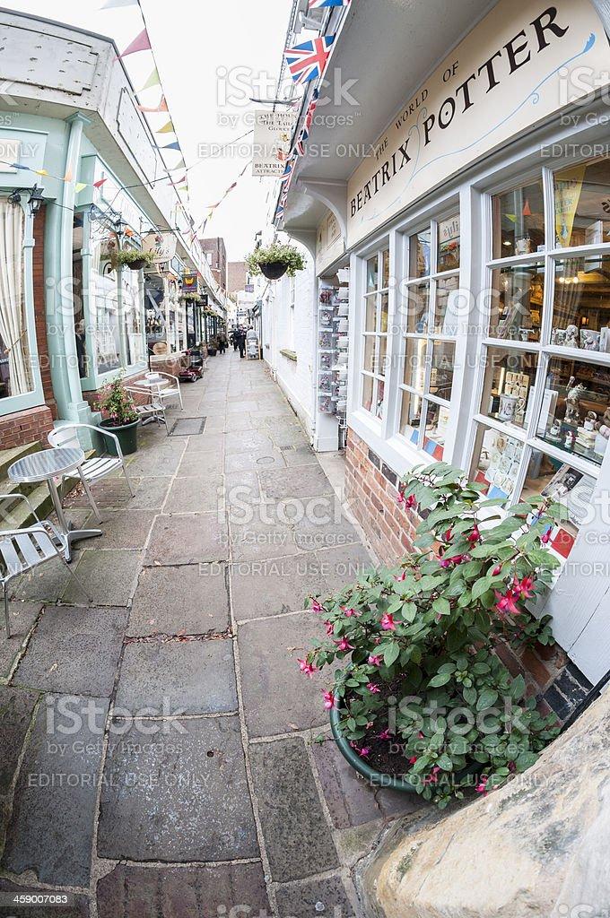 Paved Side Street stock photo