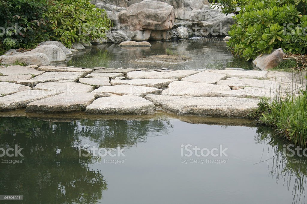 Paved  Stones Walkway royalty-free stock photo