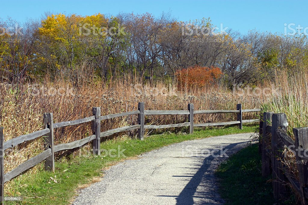 Paved Trail royalty-free stock photo