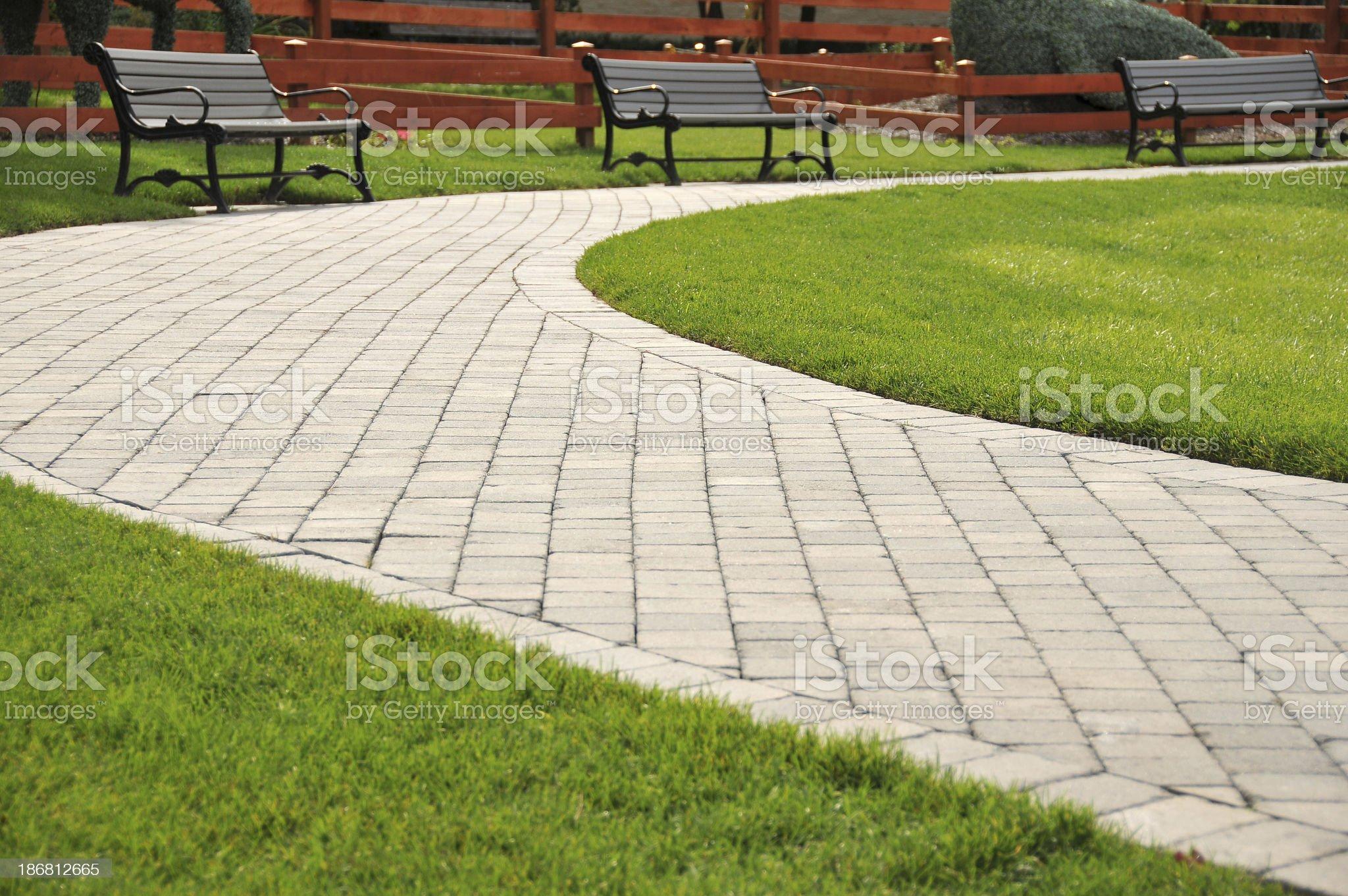 Paved Walkway royalty-free stock photo