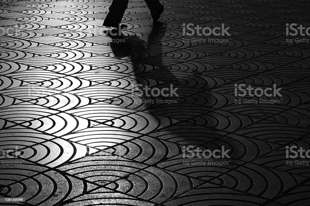 Pavement and shadow royalty-free stock photo