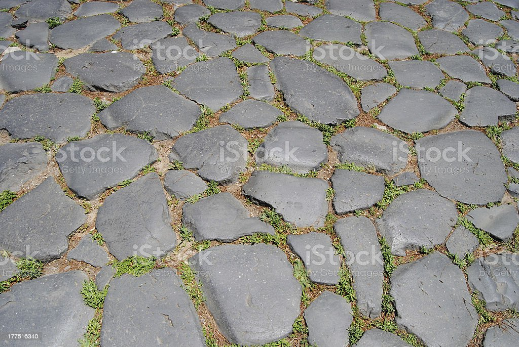 Pavement around the Colosseum. Rome royalty-free stock photo