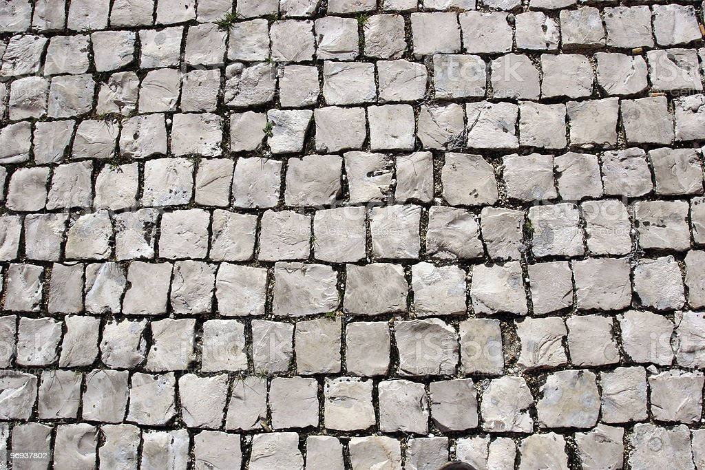 Pavement Bricks textures royalty-free stock photo