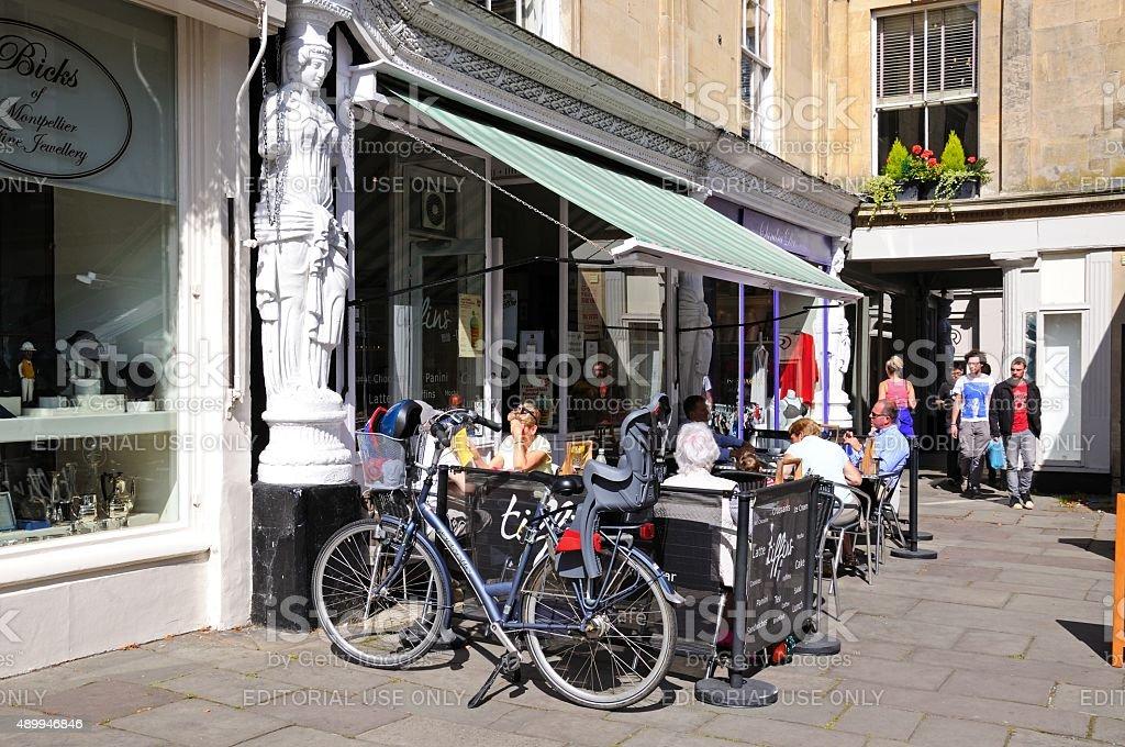 Pavement cafes, Cheltenham. stock photo