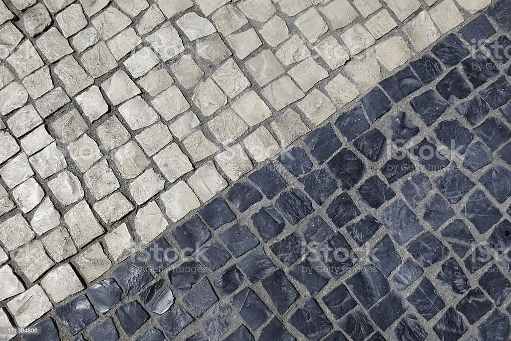 Cascais pavement royalty-free stock photo