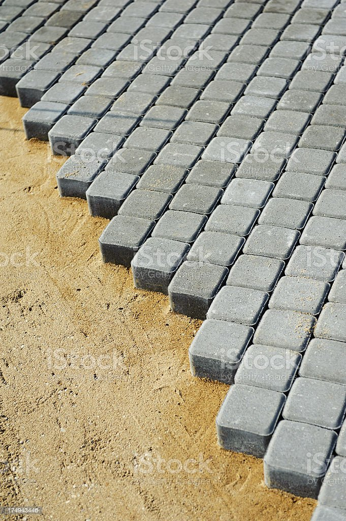 Pavement construction royalty-free stock photo