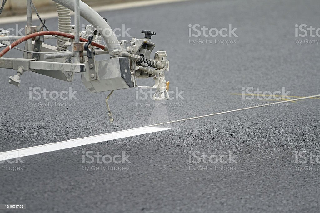 Pavement Lane Marker royalty-free stock photo